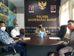 Pengurus FSBDSI Mabar Beraudiens dengan Disnakertrans dan Kapolres Mabar