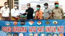 Peduli Korban Bencana, Komunitas Satu Hati Untuk NTT Serahkan Bantuan Sembako