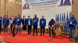 Musda Demokrat NTT, 2 Nama Diusulkan Jadi Calon Ketua DPD